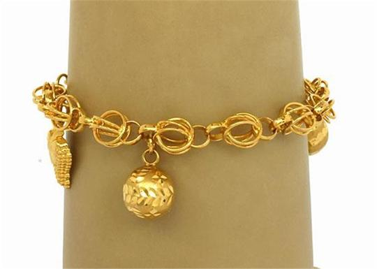 Other 21k Gold Dangling Charms Bracelet