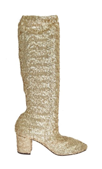 Preload https://img-static.tradesy.com/item/24165843/dolce-and-gabbana-gold-sequined-leather-stretch-bootsbooties-size-us-95-regular-m-b-0-0-540-540.jpg