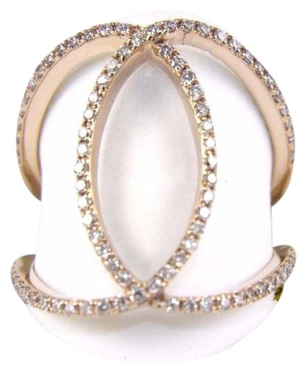 Preload https://img-static.tradesy.com/item/24165853/white-and-rose-gold-round-diamond-criss-cross-lady-s-band-14k-38ct-ring-0-1-540-540.jpg