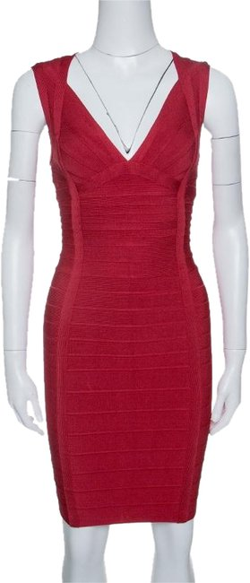 Preload https://img-static.tradesy.com/item/24165856/herve-leger-red-lipstick-sleeveless-darby-bandage-short-casual-dress-size-4-s-0-1-650-650.jpg