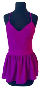 Anthropologie Peplum Ruffle Sweetheart Date Night Top Purple