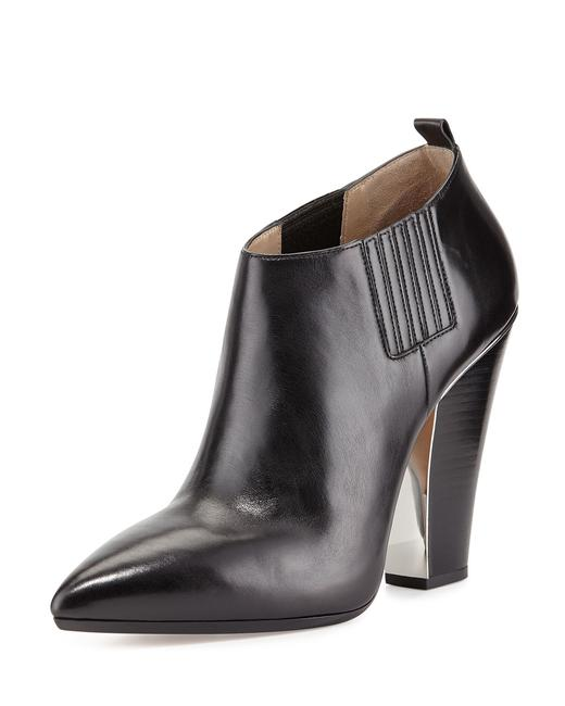 Michael Kors Collection Black Lacy Pointed-toe Boots/Booties Size EU 37.5 (Approx. US 7.5) Regular (M, B) Michael Kors Collection Black Lacy Pointed-toe Boots/Booties Size EU 37.5 (Approx. US 7.5) Regular (M, B) Image 1