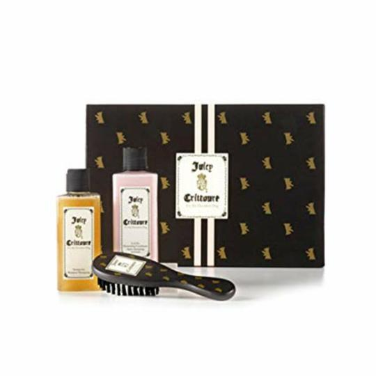 Juicy Couture JUICY CRITTOURE FOR THE DECADENT DOG-SHAMPOO-CONDITIONER-BRASH IN GIFT BOX