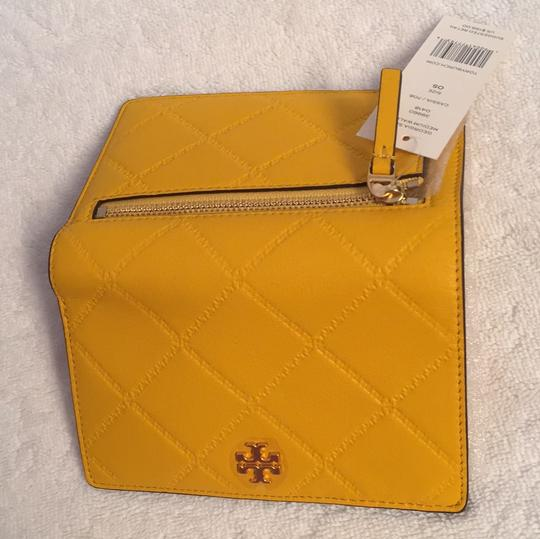 Tory Burch Tory Burch Georgia Slim Medium Quilted Leather Wallet in Cassia