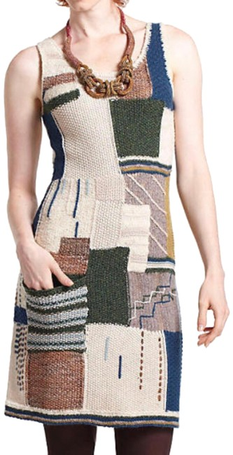 Preload https://img-static.tradesy.com/item/24165914/anthropologie-wool-blend-patchwork-sweater-mid-length-short-casual-dress-size-0-xs-0-2-650-650.jpg