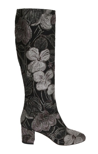Preload https://img-static.tradesy.com/item/24165938/dolce-and-gabbana-black-silver-jacquard-floral-bootsbooties-size-us-105-regular-m-b-0-0-540-540.jpg