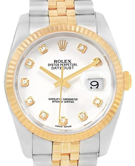 Preload https://img-static.tradesy.com/item/24165970/rolex-white-datejust-steel-yellow-diamond-dial-mens-116233-watch-0-1-540-540.jpg