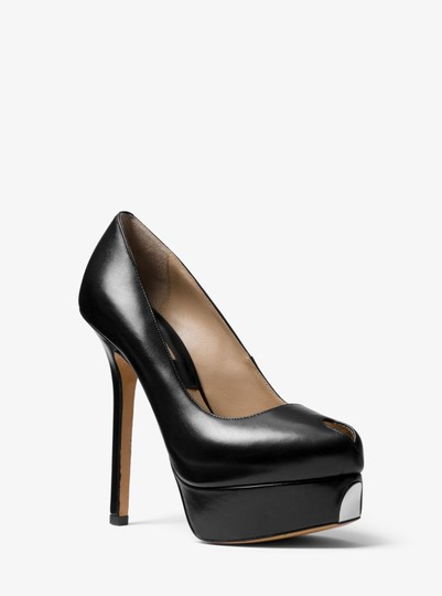 Michael Kors Collection Stilleto Metal Trim Black Platforms