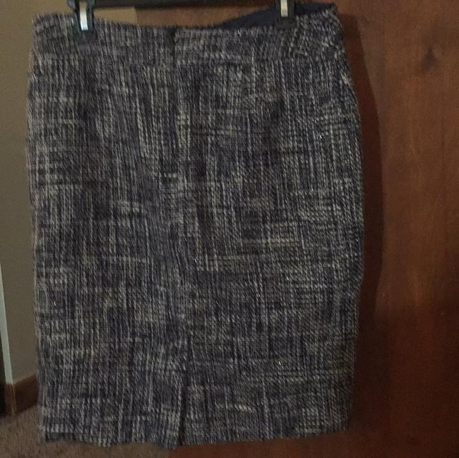 Jones New York Skirt blue and white
