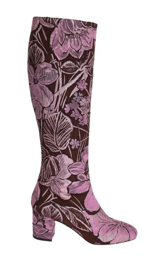Preload https://img-static.tradesy.com/item/24166005/dolce-and-gabbana-purple-pink-jacquard-floral-bootsbooties-size-us-95-regular-m-b-0-0-540-540.jpg
