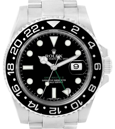 Preload https://img-static.tradesy.com/item/24166051/rolex-black-gmt-master-ii-green-hand-steel-mens-116710-box-card-watch-0-1-540-540.jpg
