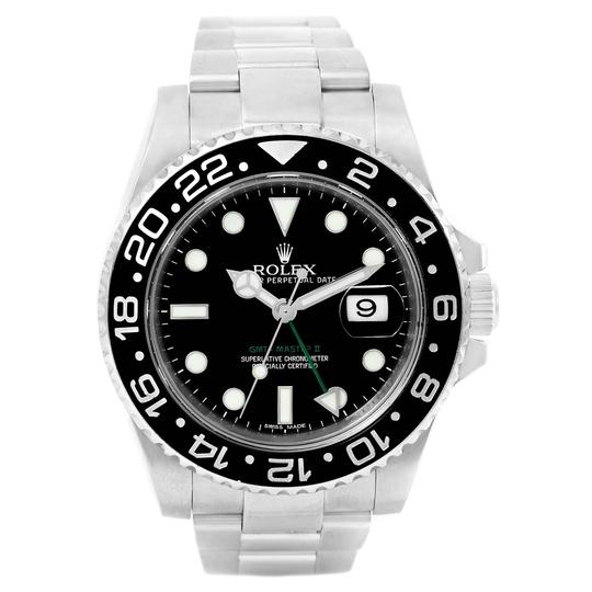 Rolex Rolex GMT Master II Green Hand Steel Mens Watch 116710 Box Card