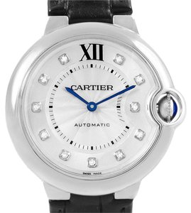 Cartier Cartier Ballon Bleu 33mm Diamond Dial Steel Ladies Watch W4BB0009