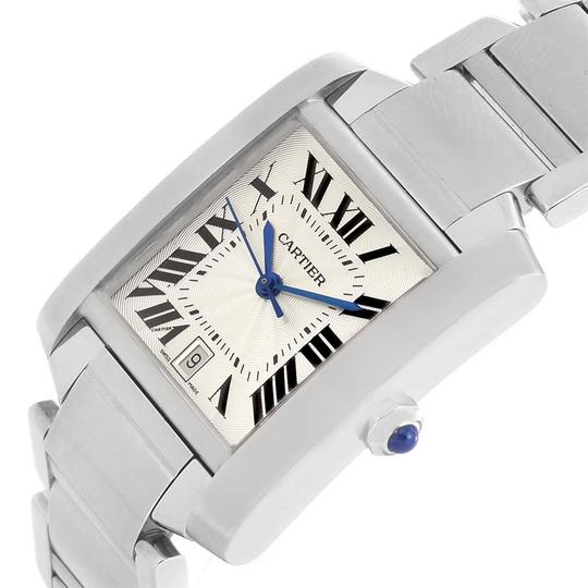 Cartier Cartier Tank Francaise Silver Dial Stainless Steel Watch W51002Q3