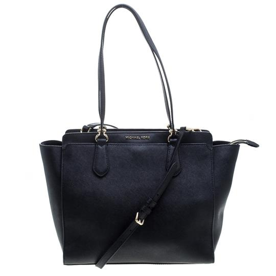 Preload https://img-static.tradesy.com/item/24166155/michael-kors-dee-dee-convertible-black-leather-tote-0-0-540-540.jpg