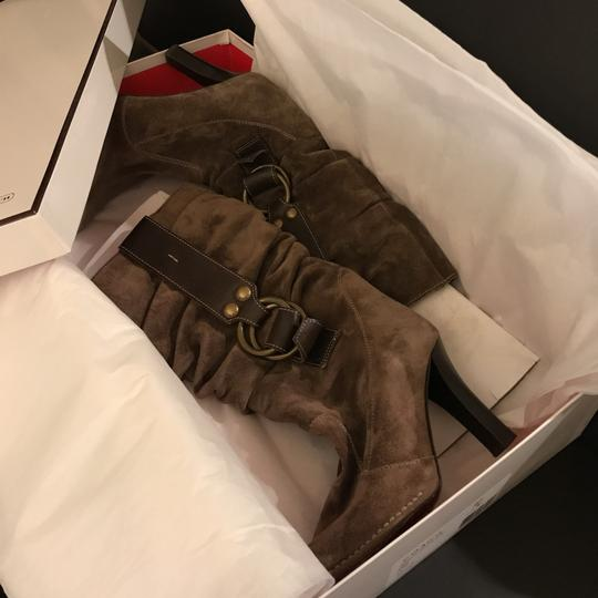 Coach Dusty Taupe Boots