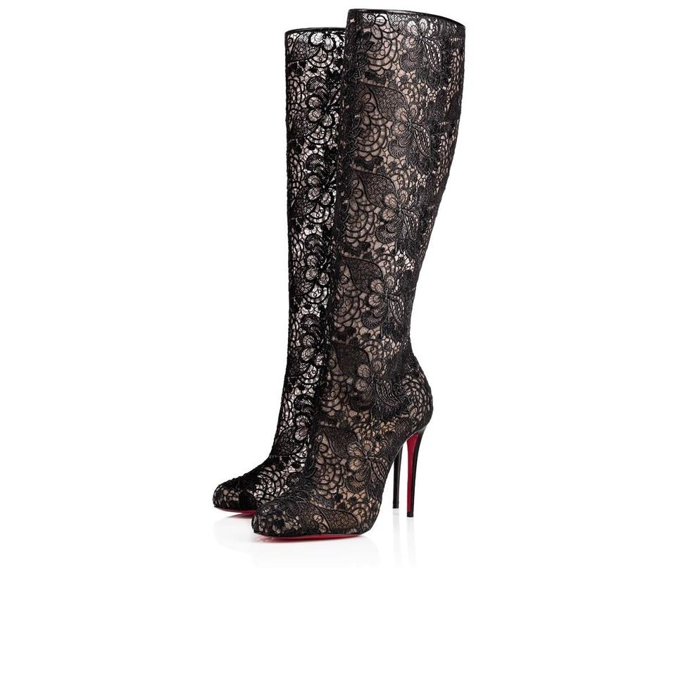 29a7085ebb17 Christian Louboutin Stiletto Classic Lace Tennissina black Boots Image 0 ...
