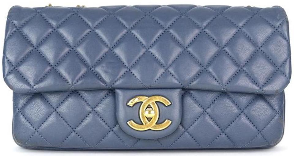 f2df96f3c503 Chanel Classic Flap Crown Cc Logo Calfskin Shoulder Bag Image 11.  123456789101112