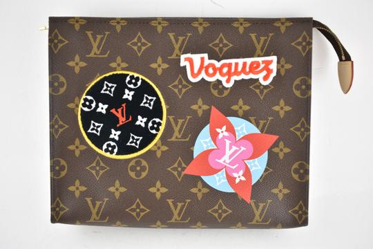 Louis Vuitton Classic Leather Monogram Patches brown Clutch Image 1