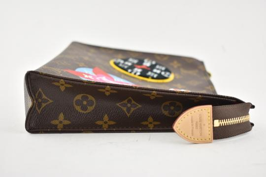 Louis Vuitton Classic Leather Monogram Patches brown Clutch Image 3
