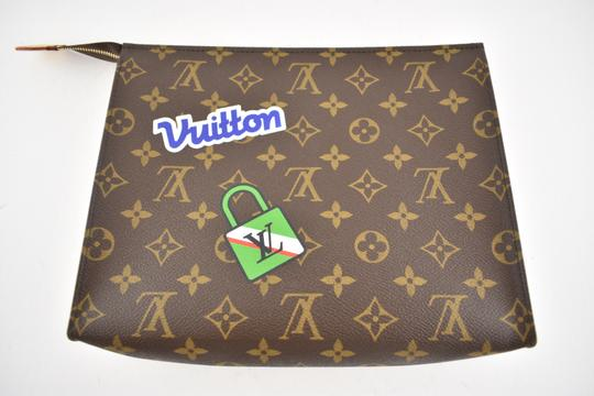 Louis Vuitton Classic Leather Monogram Patches brown Clutch Image 5