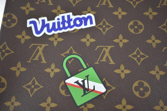 Louis Vuitton Classic Leather Monogram Patches brown Clutch Image 6