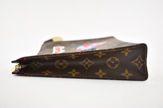 Louis Vuitton Classic Leather Monogram Patches brown Clutch Image 8