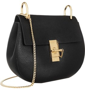 Chloé Leather Drew Shoulder Gold Chain Cross Body Bag