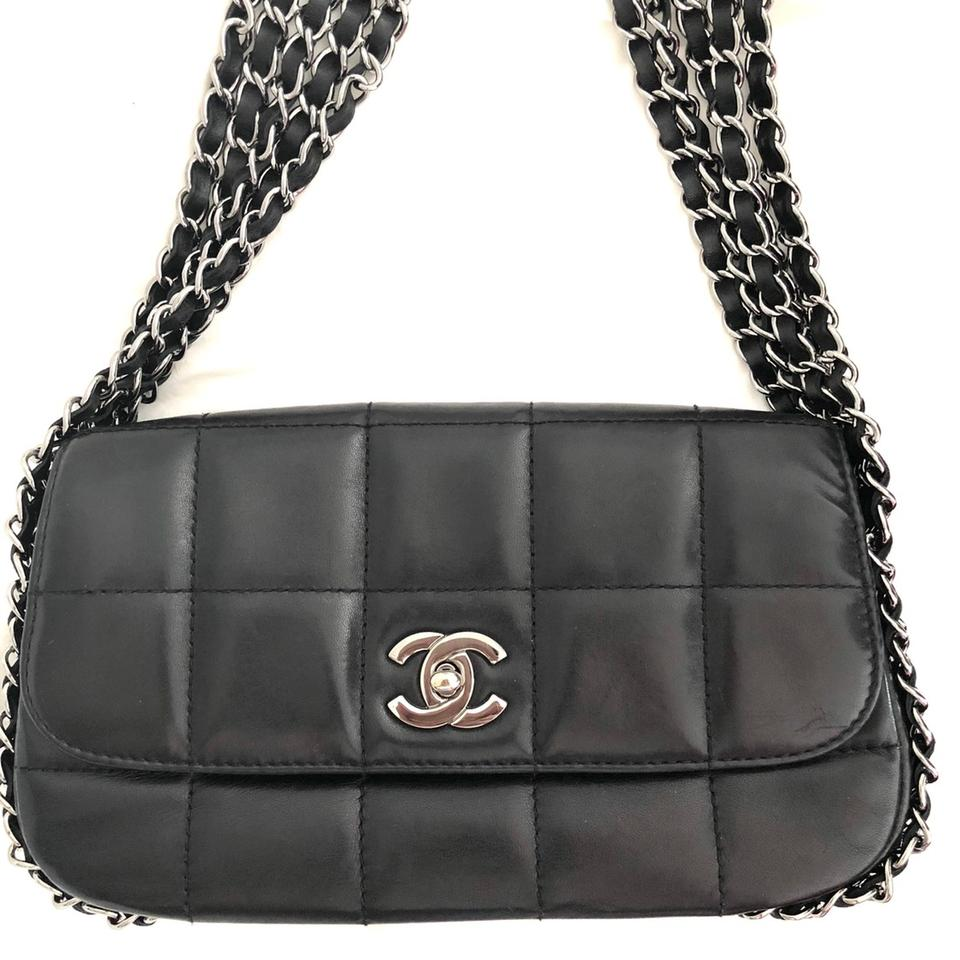 23cfbe952cd21e Chanel Classic Flap Vintage Black Multichain Square Quilted Lambskin  Leather Shoulder Bag - Tradesy