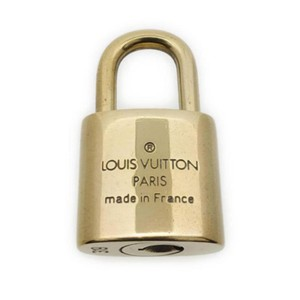 Louis Vuitton Gold Single Key Lock Pad Lock and Key 868236