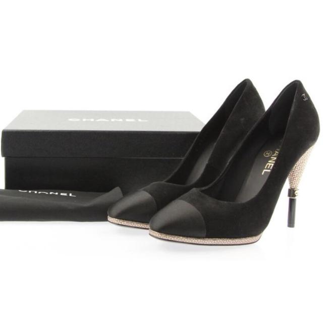 Item - Black Suede/Satin with Textured Pumps Size EU 40 (Approx. US 10) Narrow (Aa, N)