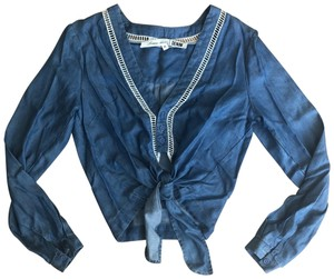 Lovers + Friends Top Chambray