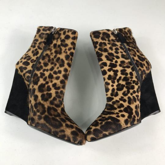Prada Animal Print Cow Fur Brown Black Boots