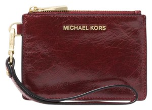 Michael Kors Coin Purse Leather 32f8gf6p1t Wristlet in Oxblood