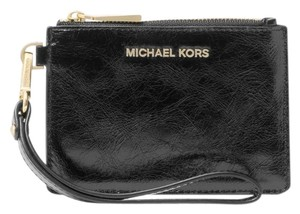 Michael Kors Coin Purse Leather 32f8gf6p1t Wristlet in Black