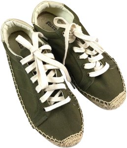 Soludos Espadrille Lace-up Green Flats