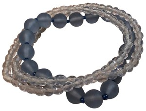 Nordstrom Blue Set Of 3 Clear Beaded Stretch Bracelet Tradesy
