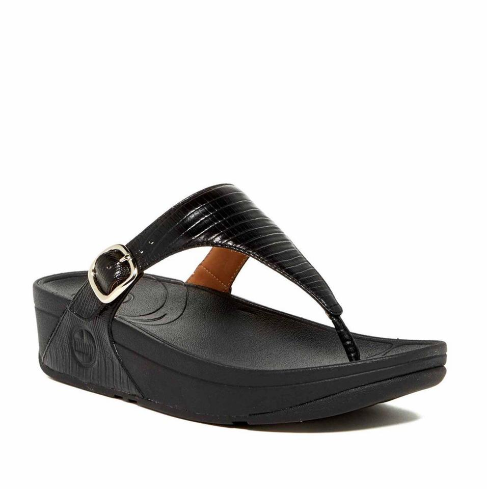 7c89a42ce79a FitFlop Black Women s Skinny Wedge Slip-on New Sandals. Size  US 10 ...