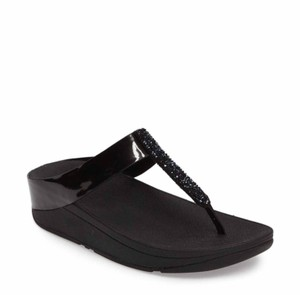 FitFlop Slip-on Beaded Black Sandals