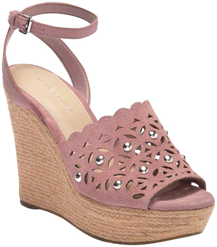 9e67985b1 Marc Fisher Pink Women s Suede Studded Wedge New Sandals Size US 9.5 ...