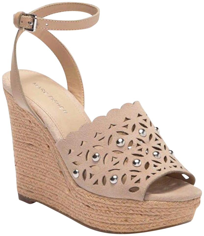 5e6baa9759b Marc Fisher Tan Women's Suede Cut-out Sandals New Wedges Size US 10 Regular  (M, B) 34% off retail