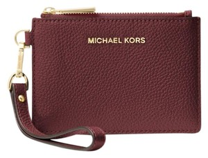Michael Kors Coin Purse Leather 32t7gm9p0l Wristlet in Oxblood