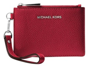 Michael Kors Coin Purse Leather 32t7gm9p0l Wristlet in Maroon