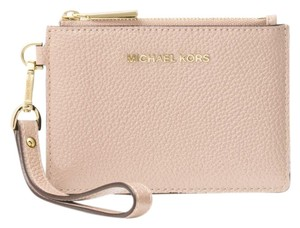 Michael Kors Coin Purse Leather 32t7gm9p0l Wristlet in Deep Pink