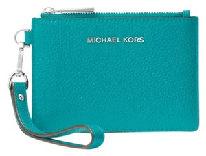 Michael Kors Coin Purse Leather 32t7sm9p0l Wristlet in Turquoise