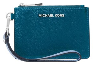 Michael Kors Coin Purse Leather 32t8sf6p1t Wristlet in Luxe Teal