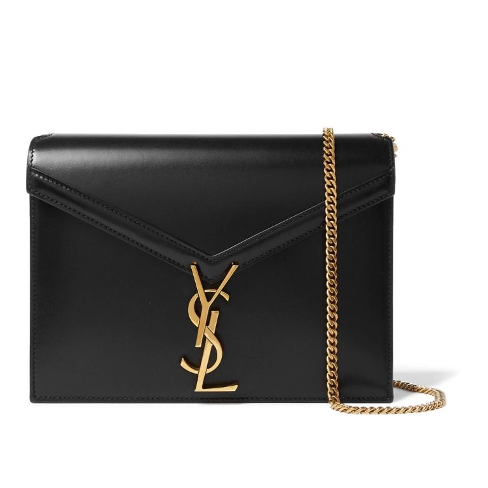 1b784957aa46 Saint Laurent Cassandre Monogram Leather Chain Shoulder Bag - Tradesy