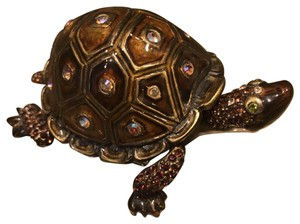Jay Strongwater Jay Strongwater Amber/ antique brass turtle