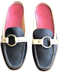 Coach Navy Mules