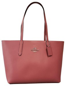 7e249cb95d Added to Shopping Bag. Coach Tote in Light Pink Oxblood. Coach Avenue Light  Pink Oxblood Leather Tote